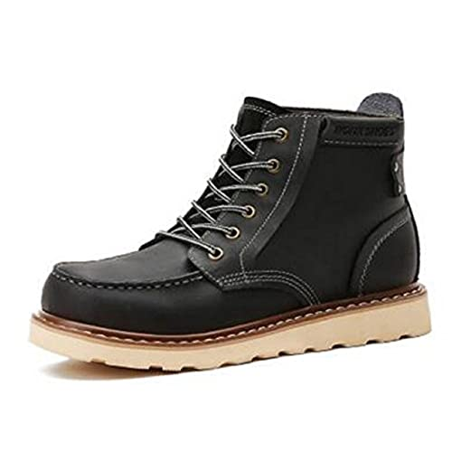 cheap Happyshop(TM) Mens Real Leather Army Boots Martin