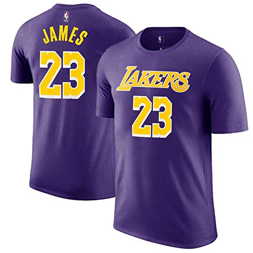 Outerstuff Lebron James Los Angeles Lakers #23 Youth Player Name & Number T-Shirt Purple (Large (Lakers Tee Shirts)