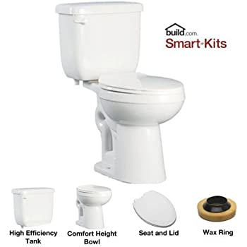 proflo pfct103he twopiece high efficiency toilet with elongated ada height bowl white