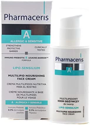 Facial Moisturizer, Sensitive Skin, Peptides and Hyaluronic Acid, Unscented, Hypo-Allergenic, Non-comedogenic, Women and Men, by Pharmaceris, 50 ml