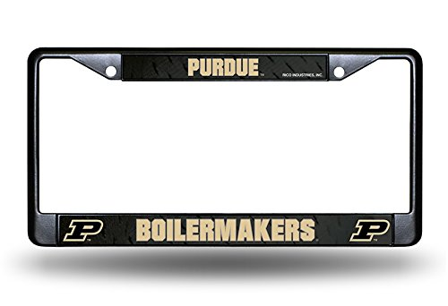 (Rico Purdue Boilermakers Black Custom LBL Metal Chrome License Plate Tag Frame Cover University of)
