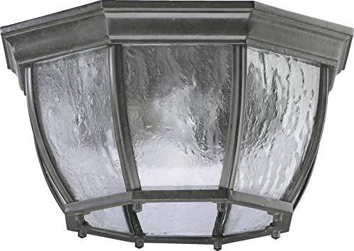Quorum Outdoor Lighting - Quorum 7931-2-25 Weston Outdoor Flush Mount, 2-Light, 200 Total Watts, Timberland Granite