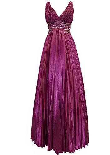 42 Plissee Sabrina vers Damen Satin Gr Abendkleid Paris Ballkleid 34 mit Lissa Burgund Langes Farben Träger 0q6At