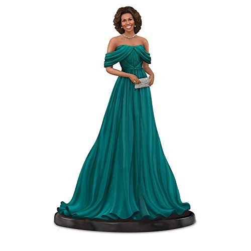 Michelle Obama Dress - The Hamilton Collection Keith Mallett Michelle Obama Teal Gown Figurine with Swarovski Crystals
