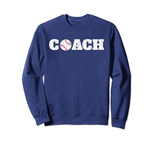 Unisex Baseball Coach Sweatshirt Small Navy Coach Womens Sweatshirt