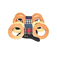 BanWood Men's Novelty Circle Wood Bow Tie Creative Wooden Bowtie Present-Multicolor