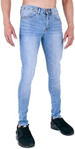 Mens Spray On Skin Tight Skinny Stretch Denim Jeans