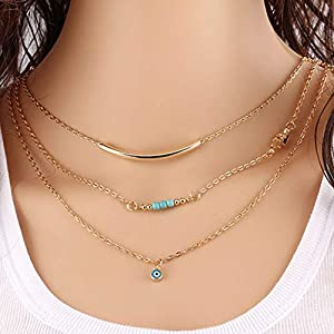 Chicer Bohemian Turquoise Necklace for Women and Girls
