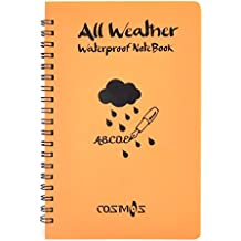 Cosmos ® Orange Tactical Waterproof All-weather /Shower /Aqua Notes /Pocket Notebook /Notepad (Size: 5 x 7 inches)