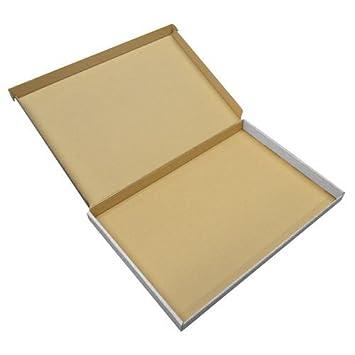 Cajas de cartón resistentes PIP para envíos postales de tamaño grande, C4, A4, 10 unidades, color blanco: Amazon.es: Oficina y papelería