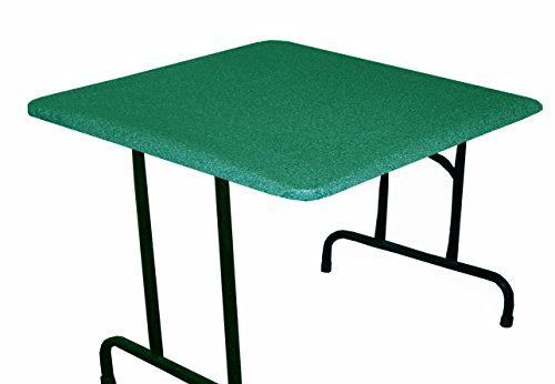 GoGranite Fitted Table Cover for Folding Leg, Square, Game/Poker/Banquet