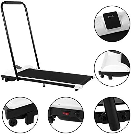Folding Treadmill - Under-Desk Walking Treadmill, Jogging Exercise Machine with RC and LED Display, Gym Professional Fitness Equipment for Home (White) 2