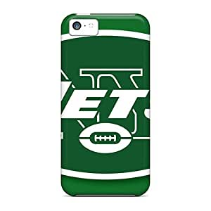 Scratch Resistant Hard Phone Cases For Iphone 5c With Allow Personal Design Vivid New York Jets Image IanJoeyPatricia