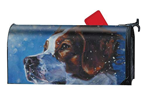 Tollyee Customized Magnetic Mailbox Cover Home Garden Mailbox Wraps - Brittany Spaniel Dog Magnetic Mailbox Cover 9