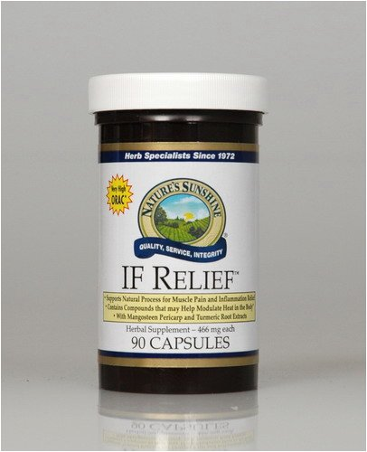 Naturessunshine IF Relief Supports Joint Health Herbal Food Supplement 90 Capsules (Pack of 12)