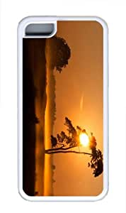 poetic cases evening foggy sunset TPU White Case for iphone 5C