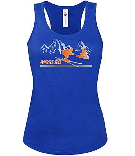 Wintersport - APRES SKI - mujer camiseta Tamaño S to XXL varios colores S-XL Azul