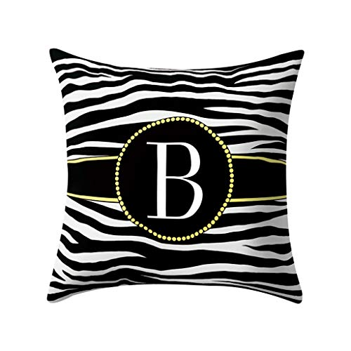 AOJIAN Home Decor Cushion Cover, Alphabet Decorative Throw Pillow Covers Protectors Bolster Case Pillowslip