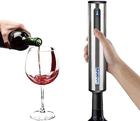 NOBRAND Sacacorchos Abrelatas De Vino Eléctrico con Sacacorchos Automático Abridor De Vino con Y Cable De Carga USB