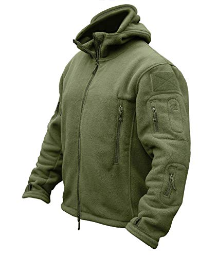 CRYSULLY Mans Army Multi-Pocket Full Zip Outerdoor