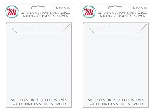 Avery Elle Stamp and Die Extra Large Storage Pockets SS-5002 (Pack of 2) ()