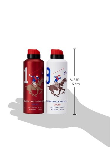 Beverly Hills Polo Club Deodorant For Men, 175ml (Pack Of 2) 2021 August Quantity: 350ml (175ml each); Item Form: Spray It s a pack of 2 top selling beverly hills personal care deodorants The fragrances are the most popular amongst consumers in India and most preferred