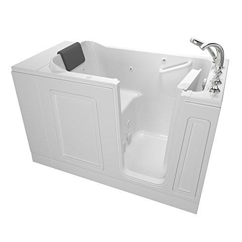 "American Standard 3051.119.WRW Acrylic Luxury Series 30"" x 51"" Walk-In Bathtub with Whirlpool Massage system, White"