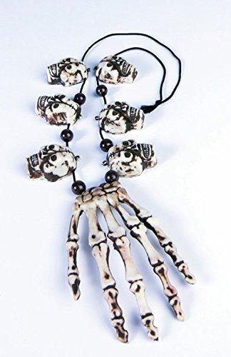 Caveman Necklace Costume (Voodoo Hand & Skulls Necklace)