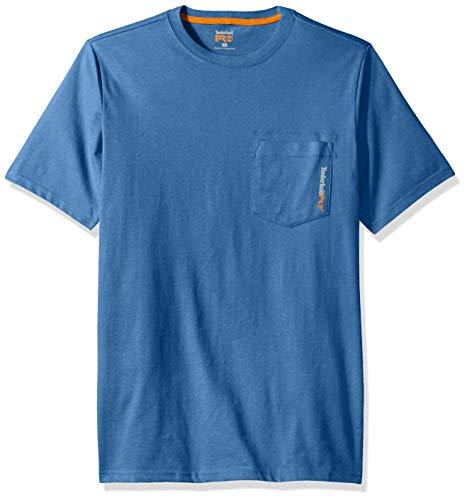 Timberland PRO Men's Base Plate Blended Short-Sleeve T-Shirt, Vallarta Blue, XXL