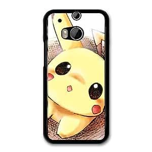 Pikachu G1G0FY2M Caso funda HTC One M8 Caso funda del teléfono celular Negro