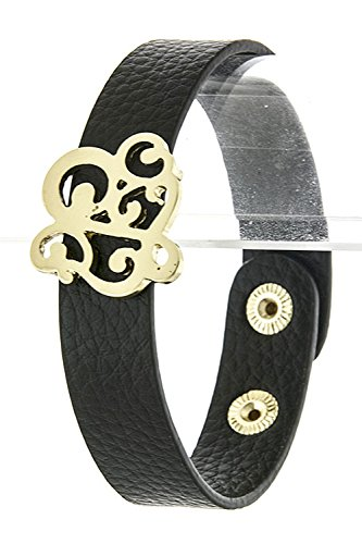 KARMAS CANVAS LETTER T BRACELET (Black) Beaded Jelly Bracelet
