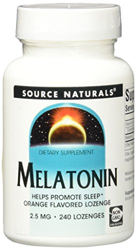 Source Naturals Melatonin, 2.5mg, Orange, for Occasional Sleeplessness, 240 Sublingual Tablets