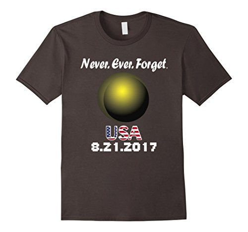 Mens Never Ever Forget Total Solar Eclipse August 21 2017 T Shirt XL (Forever 21 Halloween Ideas)