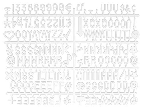 (Universal One-Tab 3/4-Inch Letter Board Letters (346-Piece Set.75-Inch); 1-Centimeter Alphanumeric White Characters w/Alphabet, Numerals & Punctuation for Letterboards)