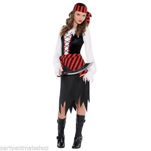 [Amscan International Teens Buccaneer Beauty Pirate Costume by Amscan International] (Buccaneer Beauty Costume)