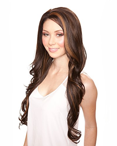 Hair Wig Sepia Synthetic (Kim - Lace Front Wig - Heat Resistant SEPIA WIG COLLECTION (FS4.27))