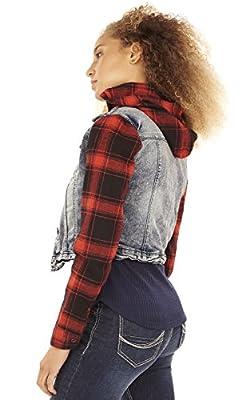 WallFlower Jeans Women's Plaid 2for Jacket