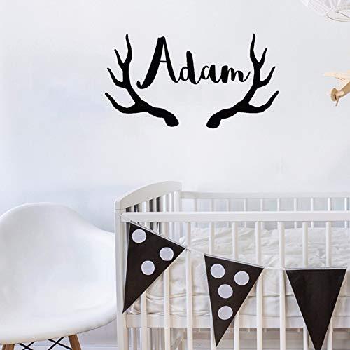 Dalxsh Wall Decal Deer Antlers Vinyl Wall Sticker Modern Baby Nursery Bedroom Decoration Animal Home 57x31cm]()