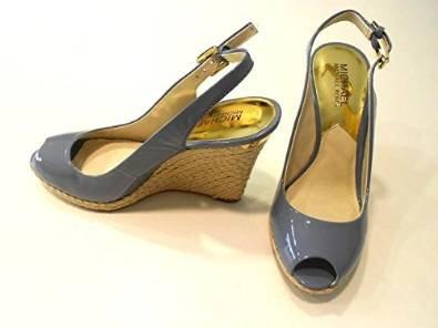Michael Kors Keegan Sling Surf Patent Leather Wedges Women Size 6 M