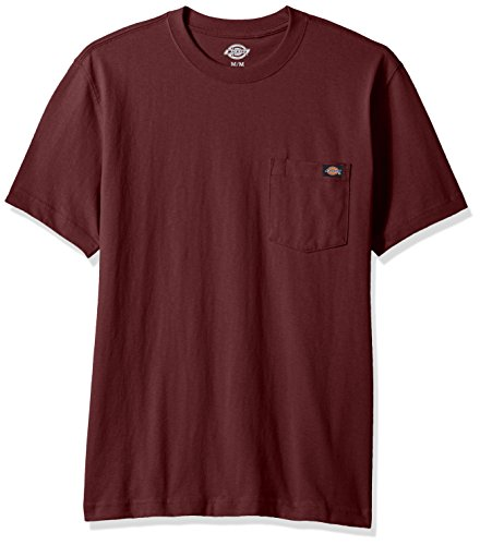 (Dickies Men's Heavy Weight Crew Neck, Burgundy, L)