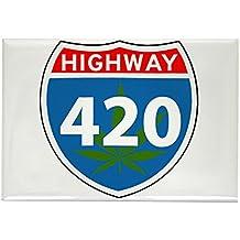 Rectangle Magnet Marijuana Highway 420 Sign