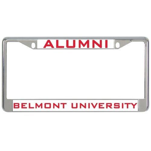 Belmont Metal License Plate Frame in Chrome Alumni 12
