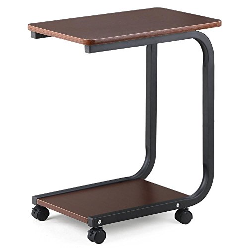 Side tables on casters for Sofa table on wheels