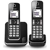 Panasonic KX-TGD312SPB - Teléfono fijo digital (bloqueo de llamadas, hasta 16 horas, modo no molestar), negro
