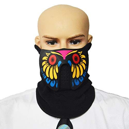 Sound Reactive Glowing Mask Led Mask Cool Party
