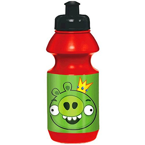 Amscan Fun-Filled Angry Birds Birthday Party Drinking Bottle Favor, Red/Green, 18 oz