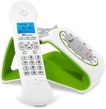 SPC Retro Glamour - Teléfono (DECT Escritorio, Tone/Pulse, Menu, 50 entradas) , color verde: Amazon.es: Electrónica