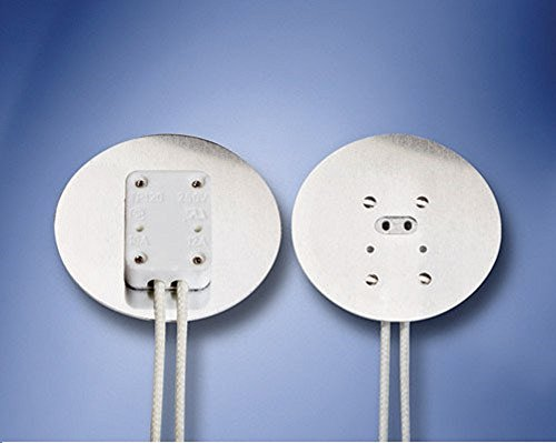 Aluminum Faced Miniature Bi Pin Socket With 2 Quot Diameter Heat Shield For Mr16 Two Pin Halogen
