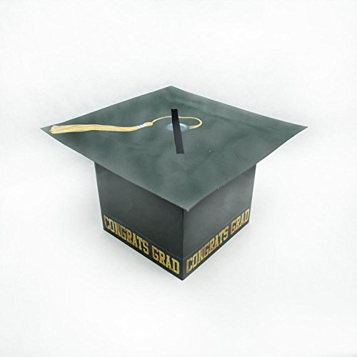 Grad Cap Card Box (black) Party Accessory  (1 count) -