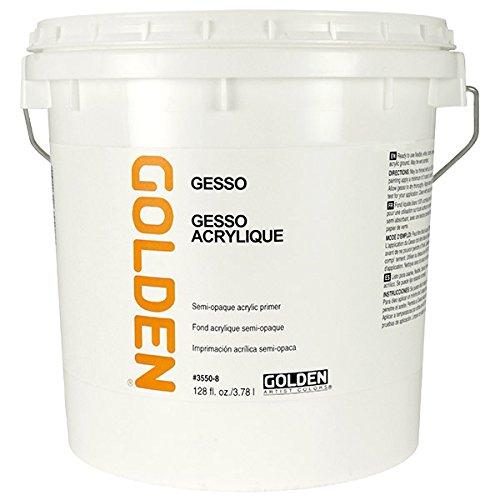 Golden Artist Colors Acrylic Gesso Gallon,White,128 oz